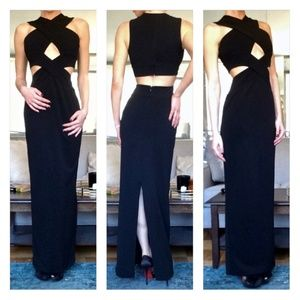 Solace London Adalyn Cut Out Maxi Dress/Gown